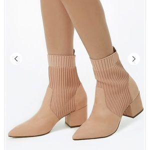 Forever 21 blush faux suede booties